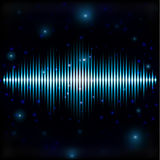 Mystic shiny sound sign in blurred space Stock Images
