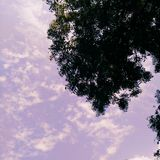 Mystic Sky. Clear, blue sky. Scattered, broken clouds Stock Image