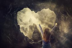 Free Mystic Stairway To The Sky Royalty Free Stock Photo - 138556445