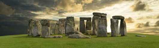 Mystic Stonehenge in England, Europe. Concept for travel, astronomy,religion,esoteric and touristic themes stock photo