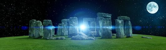 Mystic Stonehenge in England, Europe. Concept for travel, astronomy,religion,esoteric and touristic themes royalty free stock photos