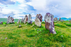 The mystic stones of Zorats Karer royalty free stock photography