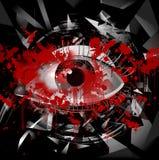 Mystic symbol colorful illustration. Mystic eye symbol colorful illustration stock illustration