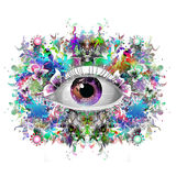 Mystic  symbol colorful illustration Royalty Free Stock Photo