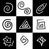 Mystic Symbols. Collection #1 - Hand Drawn Spirals Stock Image