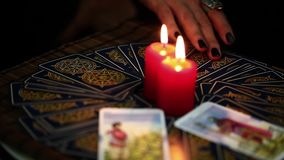 Mystic Tarot Cards Reading Future. Video stock video
