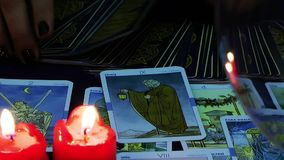 Mystic Tarot Cards Reading Future stock video footage