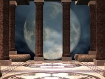 Mystic Temple. 3D Render of an Mystic Temple Stock Photography