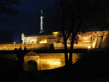 Mystic wall. Fortress in old Belgrade royalty free stock photos