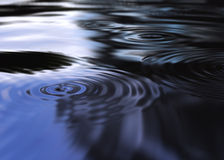 Mystic water ripples. Circular waves expanding. 3D image Stock Illustration
