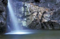 Mystic Waterfall. Waterfall with special illumination - effect Stock Photos