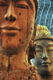 Mystic wood sculpture / Thailand. Two mystic wood sculptures in front of a buddhist temple in Thailand Stock Images