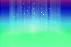Mystical Background With Stars and Sparkles. Mystical background made of green and blue with stars and sparkles Royalty Free Stock Photography