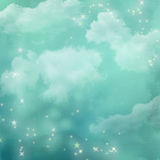 Mystical blue abstract background. Stock Photos