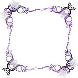 Mystical Border Purple Lace Square. Mystical purple victorian style lacy square border frame Royalty Free Stock Photos