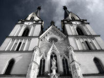 Mystical church. Mystic infrared shot of a church in Austria royalty free stock images