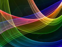 Mystical colored curves vector illustration