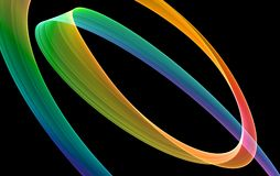 Mystical colored curves Stock Image