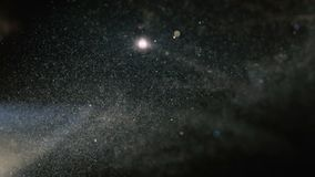 Mystical and cosmic dust with shimmering light. cold. Mystical and cosmic dust with shimmering light. cold stock footage