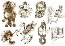 Mystical creatures Royalty Free Stock Image