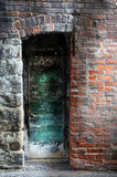 Mystical Door. A mystical door in an alley in Butte, MT Royalty Free Stock Photo