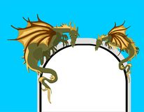 Mystical Dragons At The Arch Of The Gate.. Stock Image