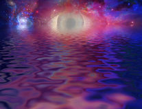 Mystical Eye. Mystical Cosmic Eye and reflections Royalty Free Stock Images