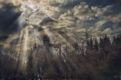 Dracula`s castle. royalty free stock photo