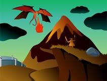 Mystical fantasy landscape vector illustration