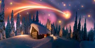 Mystical fog illuminated Stock Images