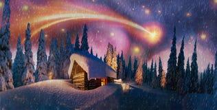 Mystical fog illuminated Stock Photography