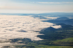 Mystical fog in the spring Royalty Free Stock Photo