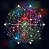 Mystical geometry symbol on space background. Royalty Free Stock Image