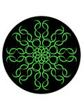 Mystical greenish mandala Royalty Free Stock Photo