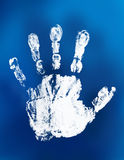 Mystical handprint Stock Images