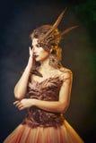 Mystical Harpy. Halloween. Stock Photo