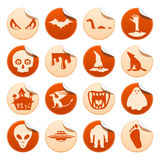 Mystical and horror stickers. Set of mysterious and horror stickers Royalty Free Stock Image