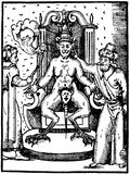 Mystical ink illustration