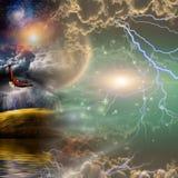 Mystical Landscape Composition Stock Images