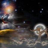 Mystical Landscape Composition Stock Photography