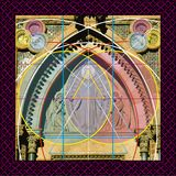 Mystical mandorla. Mystical mandala in color, combining real photography and computer design to create a symbolic image Stock Images