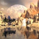Mystical moon landscape Stock Image