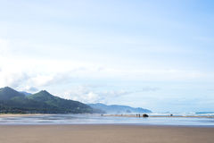 Mystical mountains, long beaches and open sky surrounding Cannon Royalty Free Stock Photography