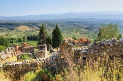 Mystical Mystras Royalty Free Stock Photos