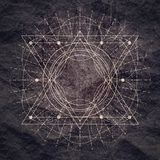 Mystical Occult Symbol. Royalty Free Stock Photos