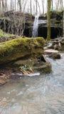 Mystical Overgrown Waterfall stock photos