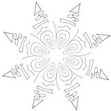 Mystical pattern on a white background stock illustration
