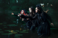 Mystical people in the swamp. Stock Photography