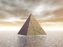 Mystical pyramid - 3D render Stock Images