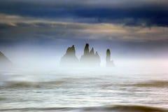 Mystical Reynisdrangar, Iceland Stock Images